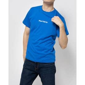 プリントTシャツ (インクブルー)