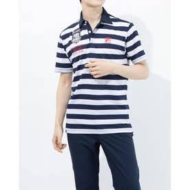 メンズ ゴルフ 半袖シャツ 半袖シャツ 741607 (ネイビー)