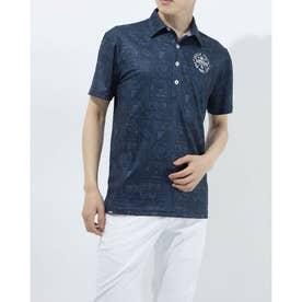 メンズ ゴルフ 半袖シャツ 半袖シャツ 741611 (ネイビー)