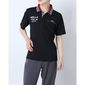 メンズ半袖ポロシャツ (ブラック)