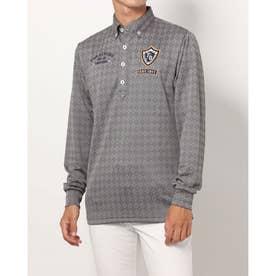 メンズ ゴルフ 長袖シャツ ジャガード長袖シャツ 781521A (グレー)