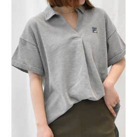 <FILA>鹿の子チュニックポロシャツ (グレー)