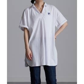 <FILA>鹿の子チュニックポロシャツ (ホワイト)