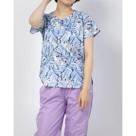 総柄Tシャツ (サックス)