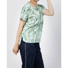 総柄Tシャツ (アクアブルー)