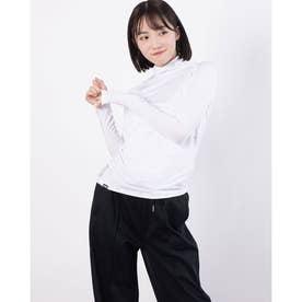 レディース ゴルフ 長袖コンプレッションインナー ハイネックインナーシャツ 751987 (ホワイト)
