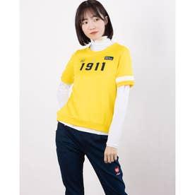 レディース ゴルフ セットシャツ 半袖シャツ+インナーセット 751501 (イエロー)