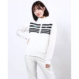 レディース ゴルフ 長袖セーター ブルゾン 751700 (ホワイト)