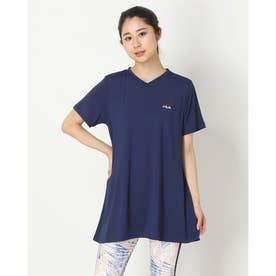 冷感チュニックTシャツ (ネイビー)
