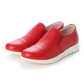 軽量 slip-on スニーカー (RED)