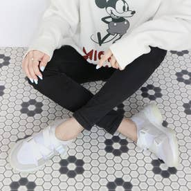 厚底スリッポンスニーカー【低反発スポンジ入り】 (アイボリー)