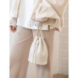 巾着ミニショルダーバッグ (ホワイト)