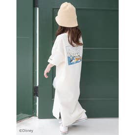 【KIDS】【Disney】ドナルド/ヴィンテージプリントTシャツワンピース (ホワイト)