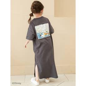 【KIDS】【Disney】ドナルド/ヴィンテージプリントTシャツワンピース (チャコールグレー)