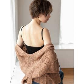 インナーレスバックオープンキャミソール 【返品不可商品】 (ブラック)