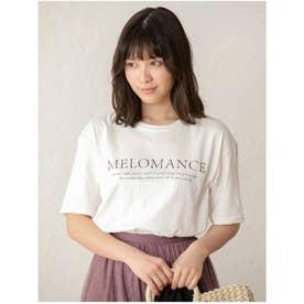 クルーネックプリントTシャツ (ホワイト)