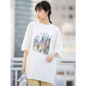 【ユニセックス】オーバーサイズグラフィック柄シェアTシャツ (プリントA)