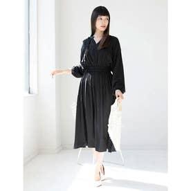 【8th anniversary】ロングシアーシャツ (ブラック)