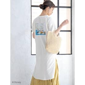 【Disney】ドナルド/ヴィンテージプリントTシャツワンピース (ホワイト)