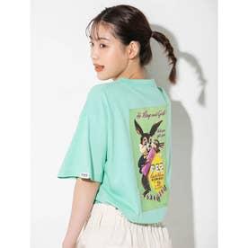 【PEZ×calin】バックプリントオーバーサイズTシャツ (ミントグリーン)