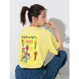 【PEZ×calin】バックプリントオーバーサイズTシャツ (イエロー)