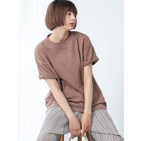 【DISCUS ATHLETIC】吸水速乾BIGシルエットTシャツ (ブラウン)