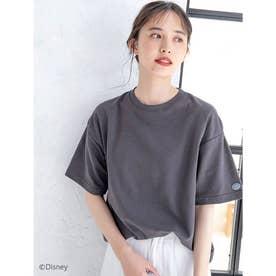 【DISCUS ATHLETIC】吸水速乾BIGシルエットTシャツ (チャコールグレー)