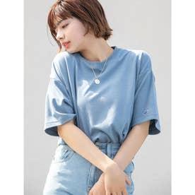 【DISCUS ATHLETIC】吸水速乾BIGシルエットTシャツ (ブルー)