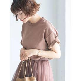 【DISCUS ATHLETIC】吸水速乾ドロップショルダーワイドTシャツ (ブラウン)