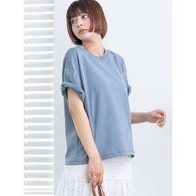【DISCUS ATHLETIC】吸水速乾ドロップショルダーワイドTシャツ (ブルー)