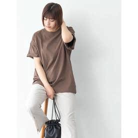 【DISCUS ATHLETIC】USAコットンBIGシルエットTシャツ (ブラウン)