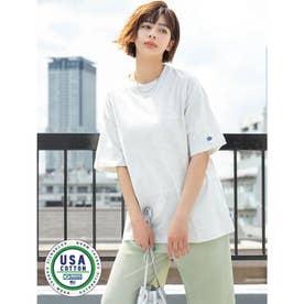 【DISCUS ATHLETIC】USAコットンBIGシルエットTシャツ (ライトグレー)
