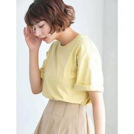 【DISCUS ATHLETIC】USAコットンドロップショルダーワイドTシャツ (イエロー)
