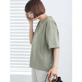 【DISCUS ATHLETIC】USAコットンドロップショルダーワイドTシャツ (カーキ)