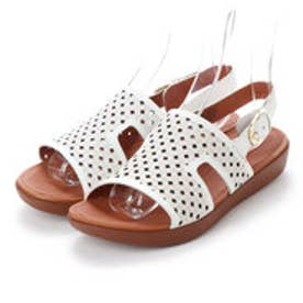 FitFlop H-BAR BACK-STRAP SANDALS - LATTICED LEATHER (Urban White)