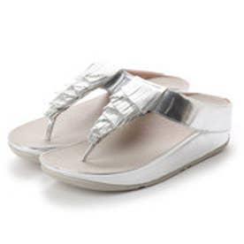 FitFlop CHA CHA FRINGE TOE-THONG SANDALS - METALLIC PU (Silver)