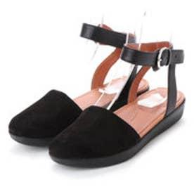 FitFlop COVA CLOSED-TOE SANDALS - SUEDE (Black)