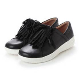 FitFlop F-SPORTY II LACE UP FRINGE SNEAKERS - LEATHER (Black)