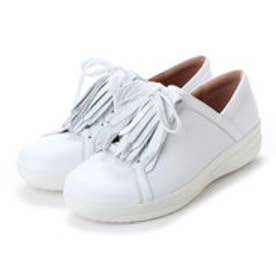 FitFlop F-SPORTY II LACE UP FRINGE SNEAKERS - LEATHER (Urban White)