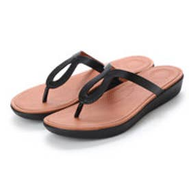 FitFlop STRATA TOE-THONG SANDALS - LEATHER (Black)