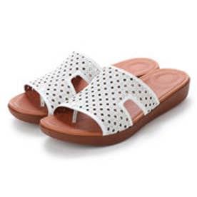 FitFlop H-BAR SLIDE SANDALS - LATTICED LEATHER (Urban White)