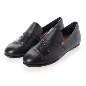 ANGELINA MICROSTUD LOAFERS (All Black)