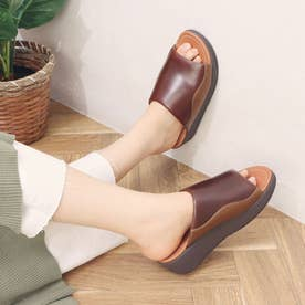 MYLA LEATHER SLIDES (Chocolate Brown mix)