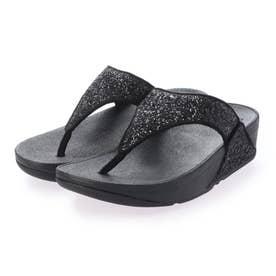 LULU GLITTER TOE-THONGS (Black Glitter)