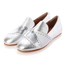 ANGELINA MICROSTUD LOAFERS (Silver)