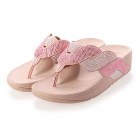 PAISLEY ROPE TOE-THONGS (Soft Pink)