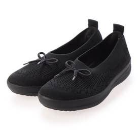 UBERKNIT SLIP-ON BALLERINA WITH BOW (All Black)