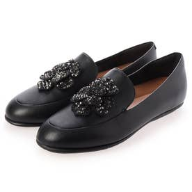 LENA CORSAGE LOAFERS (All Black)