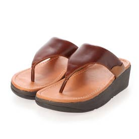 MYLA LEATHER TOE-THONGS (Chocolate Brown mix)