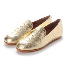 LENA CROCO LOAFERS (Vintage Gold)